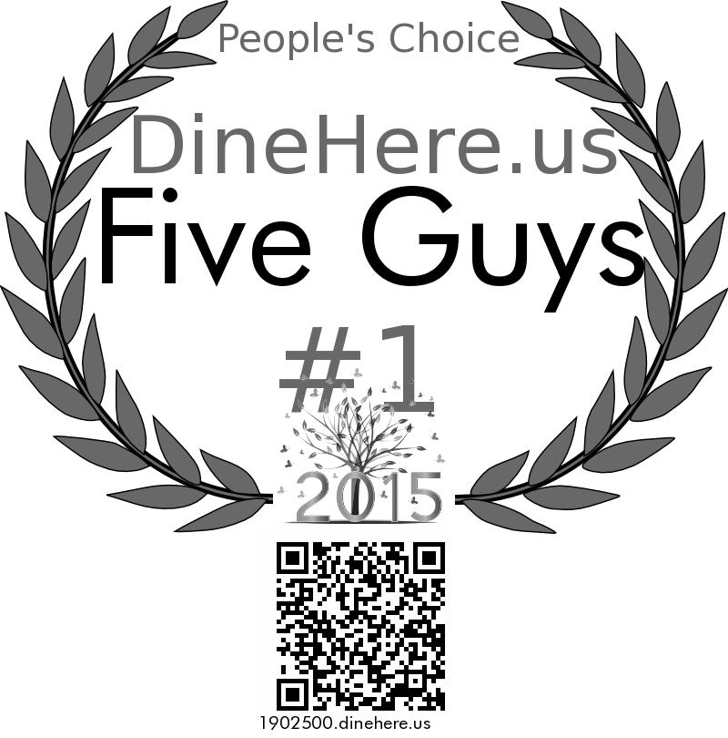 Five Guys DineHere.us 2015 Award Winner